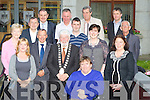 CHAIN: On Monday evening at the T.U.C building Princess Quay, Tralee on Monday evening newly elected Mayor of Tralee Johnny wall with his fellow councillers. Front l-r: Jillian Warton, Michael Scannell (Town Clerk), Johnny Wall (Mayor Tralee), Terry O'Brien, Norma Foley, and Grace O'Donnell (outgoing Mayor of Tralee), Back were, Mairead Fernane, Ted Fitzgerald, Michael McMahon (Town Manager), Dan Galvin, Cathal Foley, Pat Hussey, Pat Daly and Sammy Locke........