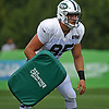 Jason Vander Laan #85 practices during a day of New York Jets Training Camp at Atlantic Health Jets Training Center in Florham Park, NJ on Monday, July 31, 2017.