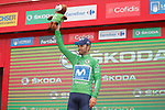 Alejandro Valverde (ESP) Movistar Team retains the Green Jersey at the end of Stage 12 of the La Vuelta 2018, running 181.1km from Mondonedo to Faro de Estaca de Bares. Manon, Spain. 6th September 2018.<br /> Picture: Unipublic/Photogomezsport | Cyclefile<br /> <br /> <br /> All photos usage must carry mandatory copyright credit (&copy; Cyclefile | Unipublic/Photogomezsport)