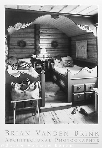SCANDANAVIAN-STYLE BUILT-IN BEDROOM<br /> Summer Cottage<br /> Coastal Maine © Brian Vanden Brink, 1997