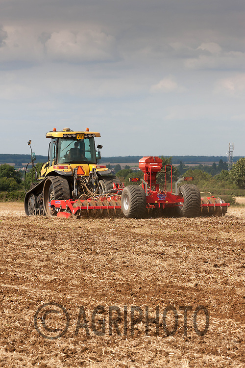 Cat Challenger with a Sumo Trio working rape stubble down<br /> Picture Tim Scrivener 07850 303986