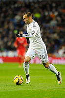 Real Madrid´s Jese Rodriguez during 2014-15 La Liga match between Real Madrid and Sevilla at Santiago Bernabeu stadium in Alcorcon, Madrid, Spain. February 04, 2015. (ALTERPHOTOS/Luis Fernandez) /NORTEphoto.com