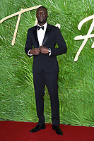 Stormzy at the British Fashion Awards 2017 at the Royal Albert Hall, London, UK. <br /> 04 December  2017<br /> Picture: Steve Vas/Featureflash/SilverHub 0208 004 5359 sales@silverhubmedia.com