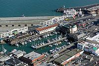 aerial photograph Fisherman's wharf, San Francisco, California