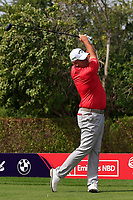 Thomas Bjorn (DEN) on the 2nd tee during Round 2 of the Omega Dubai Desert Classic, Emirates Golf Club, Dubai,  United Arab Emirates. 25/01/2019<br /> Picture: Golffile | Thos Caffrey<br /> <br /> <br /> All photo usage must carry mandatory copyright credit (© Golffile | Thos Caffrey)