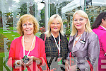 Pictured at the unveiling of the Rose monument in Tralee Town Park on Thursday, were l-r: Veronica Crowe (Ballymac) with Tess Breen (Chutehall) and Margaret McIntyre (Kerry Rose, 1967).