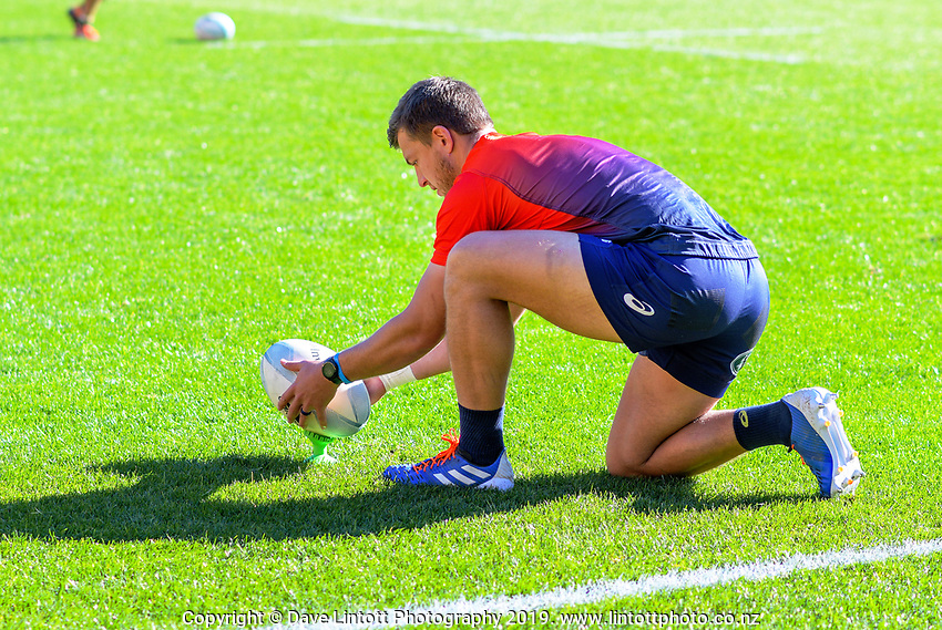 Handre Pollard during the Rugby Championship South Africa Springboks captain's run training session at Westpac Stadium in Wellington, New Zealand on Friday, 26 July 2019. Photo: Dave Lintott / lintottphoto.co.nz