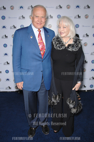 EDWIN BUZZ ALDRIN & wife LOIS at the reopening gala for the historic Griffith Observatory in Los Angeles..October 29, 2006  Los Angeles, CA.Picture: Paul Smith / Featureflash
