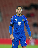 Vittorio Parigini (Chievo (on loan from Torino) of Italy during the Under 21 International Friendly match between England and Italy at St Mary's Stadium, Southampton, England on 10 November 2016. Photo by Andy Rowland.