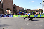 Davide Cimolai (ITA) Israel Cycling Academy in action during Stage 1 of the 2019 Giro d'Italia, an individual time trial running 8km from Bologna to the Sanctuary of San Luca, Bologna, Italy. 11th May 2019.<br /> Picture: Eoin Clarke | Cyclefile<br /> <br /> All photos usage must carry mandatory copyright credit (© Cyclefile | Eoin Clarke)