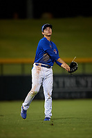 AZL Cubs 1 left fielder Carlos Pacheco (29) during an Arizona League game against the AZL Padres 1 on July 5, 2019 at Sloan Park in Mesa, Arizona. The AZL Cubs 1 defeated the AZL Padres 1 9-3. (Zachary Lucy/Four Seam Images)