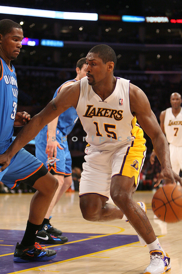 RON ARTEST of the Los Angeles Lakers.