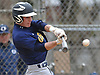 Chris Wasson #15, Massapequa shortstop, hits a single in the top of the third inning of a Nassau County varsity baseball game against host Oceanside High School on Monday, April 24, 2017. Oceanside won by a score of 9-7.