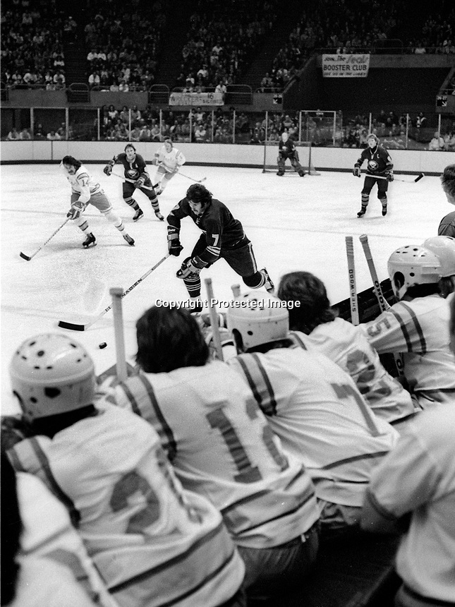 California Golden Seals bench during game against the<br />