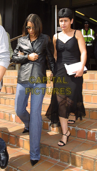 CHERYL TWEEDY - GIRLS ALOUD.Court hearing at Guildford Crown Court.www.capitalpictures.com.sales@capitalpictures.com.© Capital Pictures.leather jacket, denim jeans