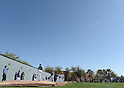 (L-R) Kenta Maeda, Pedro Baez, Alex Wood, Scott Kazmir (Dodgers),<br /> FEBRUARY 21, 2016 - MLB :<br /> Los Angeles Dodgers spring training baseball camp in Glendale, Arizona, United States. (Photo by AFLO)