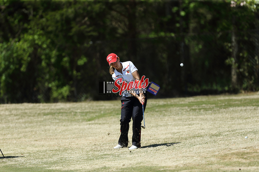 The Louisville Cardinals compete during final round action at the 2016 ACC Women's Golf Championship at Sedgefield Country Club on April 15, 2016 in Greensboro, North Carolina.  (Brian Westerholt/Sports On Film)