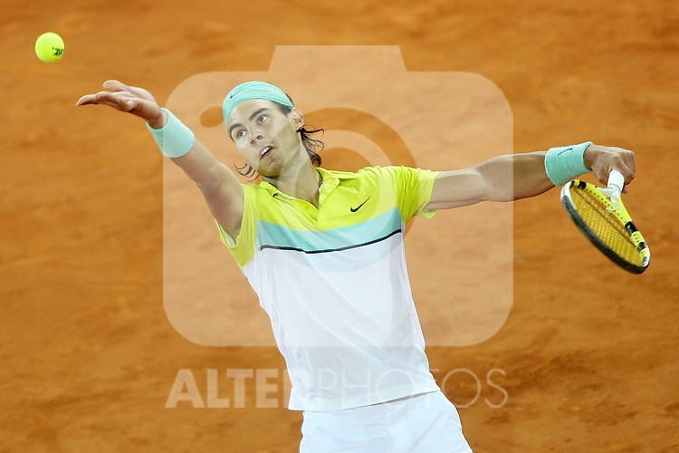 Spain's Rafael Nadal during his Madrid Open quarter final match.May 15 2009.(ALTERPHOTOS/Acero).
