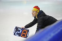 SCHAATSEN: HEERENVEEN: 12-12-2014, IJsstadion Thialf, ISU World Cup Speedskating, Gunda Niemann (trainer/coach Team Germany), ©foto Martin de Jong
