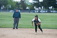 The Harker School - US - Upper School - Girls Varsity Softball versus Mercy-Burlingame...2012-04-26...Photo by Kyle Cavallaro
