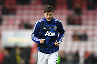 2nd November 2019; Vitality Stadium, Bournemouth, Dorset, England; English Premier League Football, Bournemouth Athletic versus Manchester United; Victor Lindelöf of Manchester United United warms up - Strictly Editorial Use Only. No use with unauthorized audio, video, data, fixture lists, club/league logos or 'live' services. Online in-match use limited to 120 images, no video emulation. No use in betting, games or single club/league/player publications