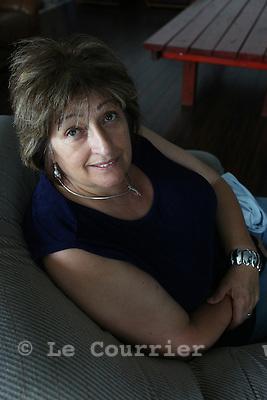 Genève, le 28.07.2009.Mme Susy Castro Gomez..© Le Courrier / J.-P. Di Silvestro