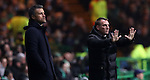 Manager of Barcelona Luis Enrique and Celtic manager Brendan Rogers during the Champions League match at Celtic Park, Glasgow. Picture Date: 23rd November 2016. Pic taken by Lynne Cameron/Sportimage