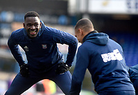 Ipswich Town's Toto Nsiala during the pre-match warm-up <br /> <br /> Photographer Hannah Fountain/CameraSport<br /> <br /> The EFL Sky Bet Championship - Ipswich Town v Sheffield United - Saturday 22nd December 2018 - Portman Road - Ipswich<br /> <br /> World Copyright © 2018 CameraSport. All rights reserved. 43 Linden Ave. Countesthorpe. Leicester. England. LE8 5PG - Tel: +44 (0) 116 277 4147 - admin@camerasport.com - www.camerasport.com