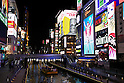 Dotonbori District Night Lights