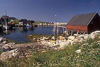 fishing village, Indian Harbor, Nova Scotia, NS, Canada, Atlantic Ocean, Scenic view of the rocky coastline of Indian Harbor in Nova Scotia.