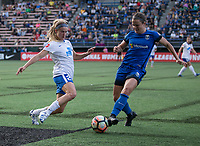 Seattle, WA - Saturday July 15, 2017: Christen Westphal, Christine Nairn during a regular season National Women's Soccer League (NWSL) match between the Seattle Reign FC and the Boston Breakers at Memorial Stadium.