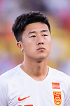 Liu Yang of China listens to their national anthem prior to the AFC Asian Cup UAE 2019 Group C match between South Korea (KOR) and China (CHN)  at Al Nahyan Stadium on 16 January 2019 in Abu Dhabi, United Arab Emirates. Photo by Marcio Rodrigo Machado / Power Sport Images