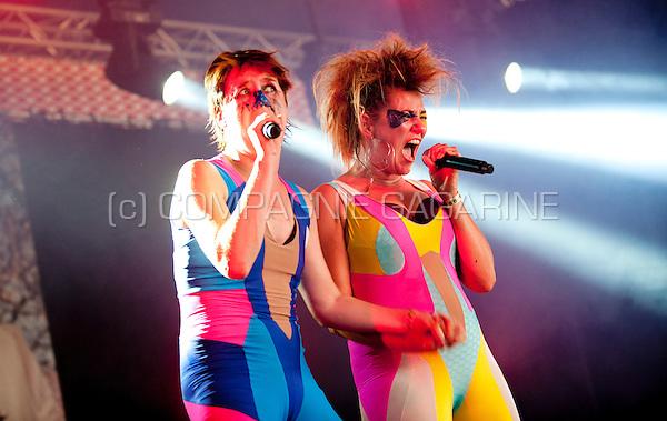 Concert of the Belgian pop group Kenji Minogue at the Woosha festival (Belgium, 19/07/2014)