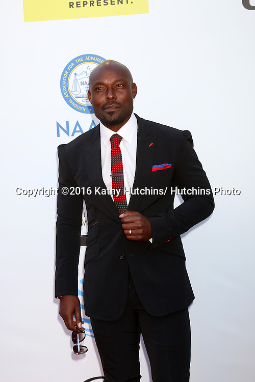 LOS ANGELES - FEB 5:  Jimmy Jean-Louis at the 47TH NAACP Image Awards Arrivals at the Pasadena Civic Auditorium on February 5, 2016 in Pasadena, CA