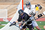 San Diego, CA 05/25/13 - Just in Evans (Carlsbad #5) and Cameron Labelle (Westview #10) in action during the 2013 Boys Lacrosse San Diego CIF DIvision 1 Championship game.  Westview defeated Carlsbad 8-3.