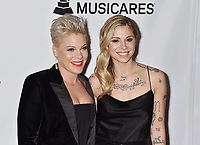 LOS ANGELES, CA - FEBRUARY 08: Pink, Christina Perri attends MusiCares Person of the Year honoring Dolly Parton at Los Angeles Convention Center on February 8, 2019 in Los Angeles, California.<br /> CAP/ROT/TM<br /> &copy;TM/ROT/Capital Pictures