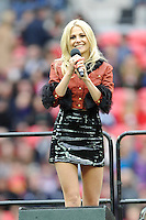 Pre-match entertainment from Pixie Lott