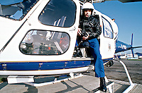 Police officer from the air support unit whose role is the police helicopter observer.  He is holding the infrared night time vision binoculars.    ..© SHOUT. THIS PICTURE MUST ONLY BE USED TO ILLUSTRATE THE EMERGENCY SERVICES IN A POSITIVE MANNER. CONTACT JOHN CALLAN. Exact date unknown.john@shoutpictures.com.www.shoutpictures.com...