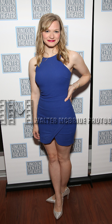 Caroline Hewitt attends the Opening Night After Party for the Lincoln Center Theater Production of 'Junk' on November 2, 2017 at Tavern On The Green in New York City.