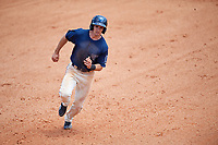 Mobile BayBears right fielder Zach Welz (3) runs the bases during a game against the Pensacola Blue Wahoos on April 26, 2017 at Hank Aaron Stadium in Mobile, Alabama.  Pensacola defeated Mobile 5-3.  (Mike Janes/Four Seam Images)