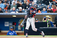 19 March 2009: #51 Ichiro Suzuki of Japan hits the ball during the 2009 World Baseball Classic Pool 1 game 6 at Petco Park in San Diego, California, USA. Japan wins 6-2 over Korea.