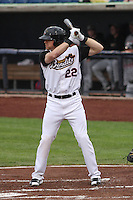 Quad Cities River Bandits outfielder Derek Fisher (22) during a Midwest League game against the Wisconsin Timber Rattlers on May 8th, 2015 at Modern Woodmen Park in Davenport, Iowa.  Quad Cities defeated Wisconsin 11-6.  (Brad Krause/Four Seam Images)