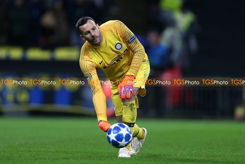 Samir Handanovic of Internazionale during Tottenham Hotspur vs Inter Milan, UEFA Champions League Football at Wembley Stadium on 28th November 2018