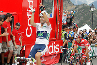 Alberto Contador (c), Joaquin Purito Rodriguez (r) and Alejandro Valverde winner during the stage of La Vuelta 2012 between Lleida-Lerida and Collado de la Gallina (Andorra).August 25,2012. (ALTERPHOTOS/Acero) /NortePhoto.com<br /> <br /> **CREDITO*OBLIGATORIO** <br /> *No*Venta*A*Terceros*<br /> *No*Sale*So*third*<br /> *** No*Se*Permite*Hacer*Archivo**<br /> *No*Sale*So*third*