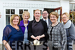 Flippin Eck Chef Kathleen McCarthy trys flipping a pancake in a gale force wiind with l-r: Teresa Irwin Eileen Foley, Denis McCarthy, Kathleen McCarthy, Catherine Geeson and Noeleen O'Sullivan at the Killarney Soroptimists pancake morning in the Killarney Avenue Hotel on Tuesday