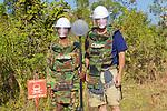 Cambodian Deminer With Metal Detector & David