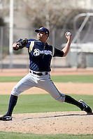Donald Brandt, Milwaukee Brewers 2010 minor league spring training..Photo by:  Bill Mitchell/Four Seam Images.