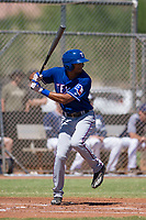 Texas Rangers outfielder Bubba Thompson (4) at bat during an Instructional League game against the San Diego Padres on September 20, 2017 at Peoria Sports Complex in Peoria, Arizona. (Zachary Lucy/Four Seam Images)