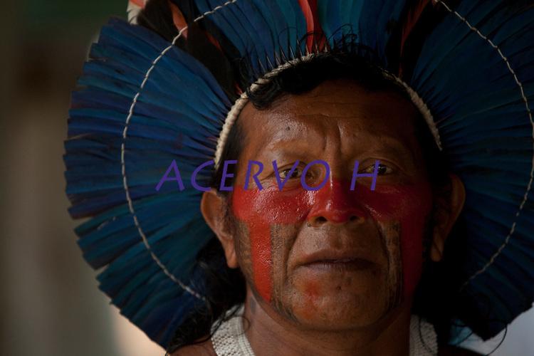 XI Jogos indígenas.<br /> Kaiapó.<br /> Porto Nacional, Tocantins, Brasil.<br /> Foto Paulo Santos.<br /> 07/11/2011.