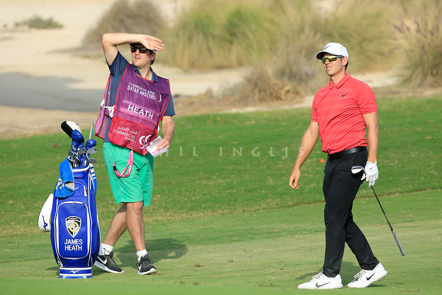 James Heath (ENG) during the second round of the Commercial Bank Qatar Masters played at Doha Golf Club, Qatar. 23/02/2018<br /> Picture: Golffile | Phil Inglis<br /> <br /> <br /> All photo usage must carry mandatory copyright credit (&copy; Golffile | Phil Inglis)
